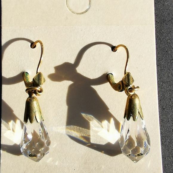 Vintage gold plated earrings